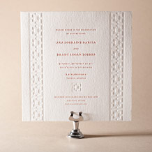 Palmas Letterpress Invitation Design Small