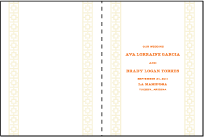 Palmas Letterpress Program Design Small