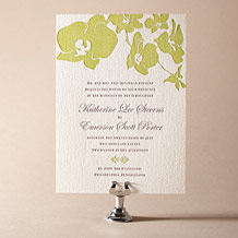 Paradise Letterpress Invitation Design Small