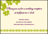 Paradise Letterpress Reception Design Small