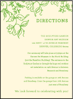 Pastoral Letterpress Direction Design Small