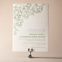Pastoral Letterpress Invitation Design Small