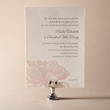 Pavilion Letterpress Invitation Design Small
