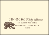 Pavilion Letterpress Reply Envelope Design Small