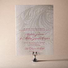 Plume Letterpress Invitation Design Small