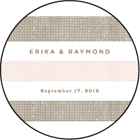 Polka Stripe Letterpress Coaster Design Small