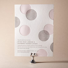 Polka Stripe Letterpress Invitation Design Small