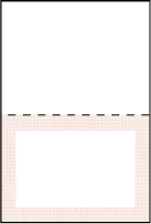 Polka Stripe Letterpress Placecard Fold Design Small