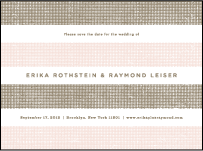 Polka Stripe Letterpress Save The Date Design Small