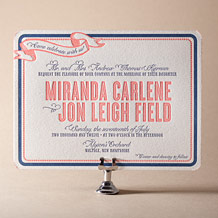 Popular Country Letterpress Invitation Design Small