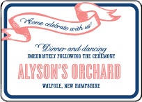 Popular Country Letterpress Reception Design Small