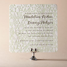 Popular Quilt Letterpress Invitation Design Small
