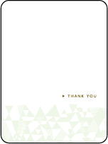 Popular Quilt Letterpress Thank You Card Flat Design Small