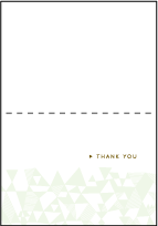 Popular Quilt Letterpress Thank You Card Fold Design Small