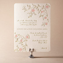 Printemps Letterpress Invitation Design Small