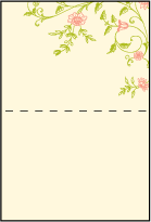 Printemps Letterpress Placecard Fold Design Small