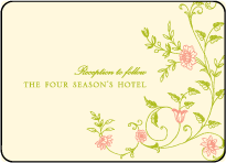 Printemps Letterpress Reception Design Small