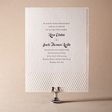 Pyramid Letterpress Invitation Design Small