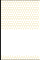 Pyramid Letterpress Placecard Fold Design Small