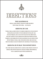 Rae Letterpress Direction Design Small