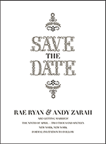 Rae Letterpress Save The Date Design Small