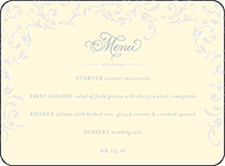 Ravenna Letterpress Menu Design Small