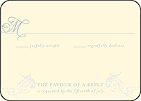 Ravenna Letterpress Reply Design Small