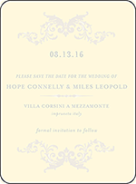 Ravenna Letterpress Save The Date Design Small