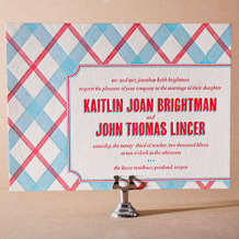 Refined Newport Letterpress Invitation Design Small