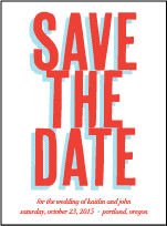 Refined Newport Letterpress Save The Date Design Small