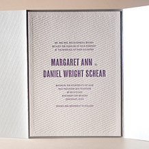 Refined Space Letterpress Invitation Design Small