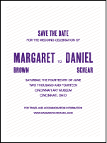 Refined Space Letterpress Save The Date Design Small