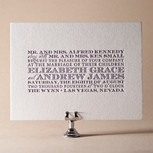 Refined Study Letterpress Invitation Design Small