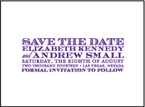 Refined Study Letterpress Save The Date Design Small