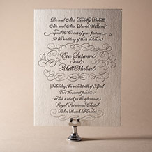 Revival Calligraphy Letterpress Invitation Design Small