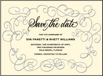 Revival Calligraphy Letterpress Save The Date Design Small