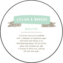 Ribbon Letterpress Coaster Design Small