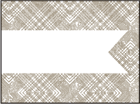Ribbon Letterpress Placecard Flat Design Small
