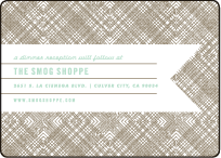 Ribbon Letterpress Reception Design Small