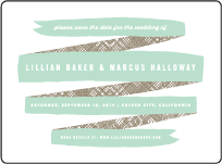 Ribbon Letterpress Save The Date Design Small