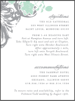 Rococo Elegance Letterpress Direction Design Small