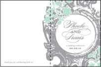 Rococo Elegance Letterpress Program Design Small