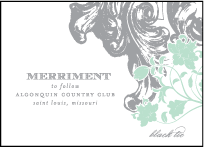 Rococo Elegance Letterpress Reception Design Small