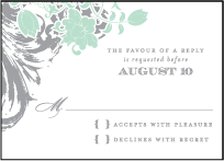 Rococo Elegance Letterpress Reply Design Small