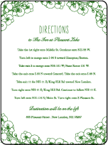 Romantic Floral Letterpress Direction Design Small
