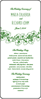 Romantic Floral Letterpress Program Tea Design Small