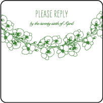 Romantic Floral Letterpress Reply Design Small
