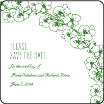 Romantic Floral Letterpress Save The Date Design Small