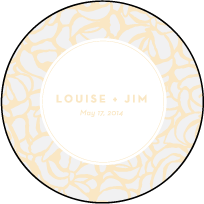 Rose Letterpress Coaster Design Small