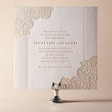 Rose Letterpress Invitation Design Small